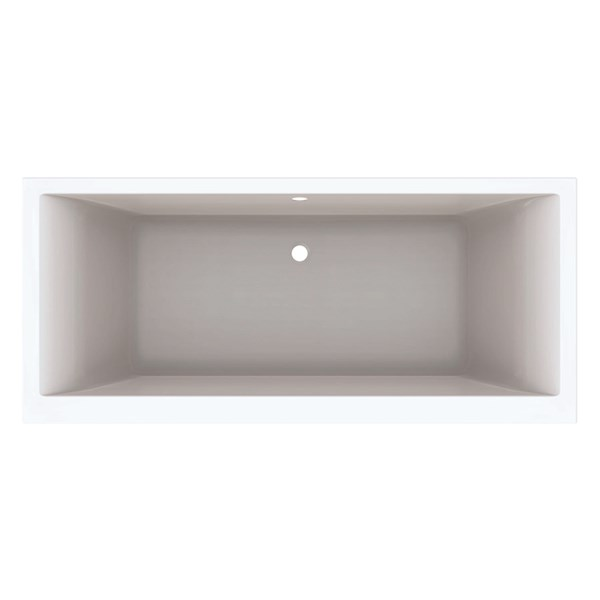 Renova Plan duobad 180x80cm acryl wit z. poten Geberit