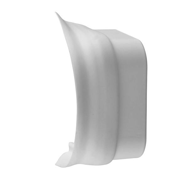 Aansluitstuk met flex.rand 80mmx60mm wit RAL9010 Canalit