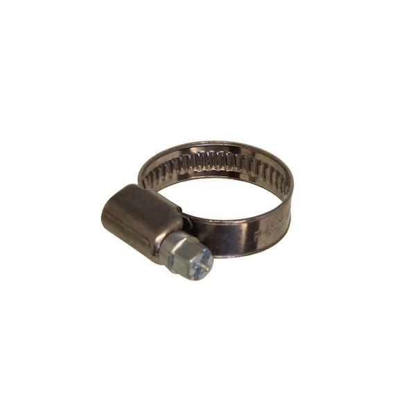 Slangklem m. wormdraad RVS B.1.4016 20-32mm de Beer