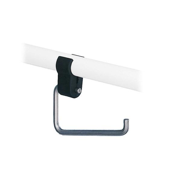 Closetrolhouder RVS gepolijst tbv toiletbeugel Linido