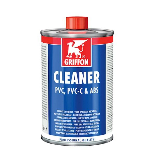 Cleaner/reinigingsmiddel v. PVC/PVC-C/ABS blik a 1000ml. Griffon
