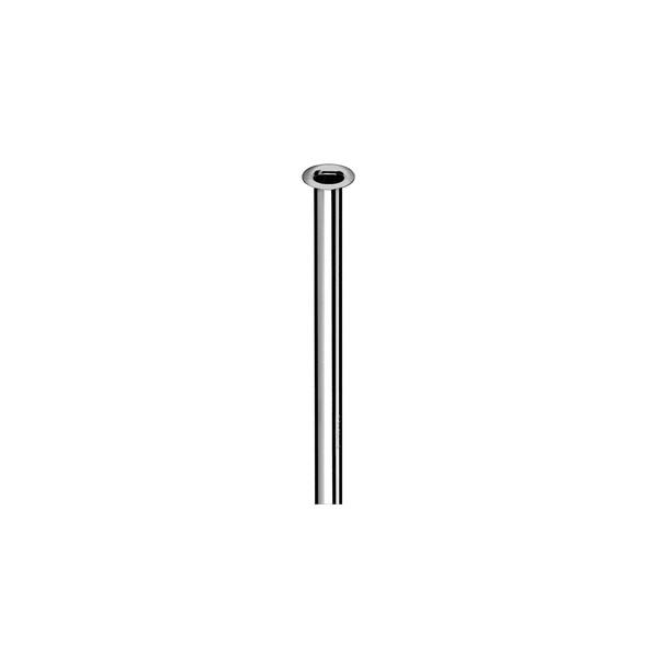 Aansluitpijp 10mm L300mm koper-chroom kraag 1/2(18mm) Schell