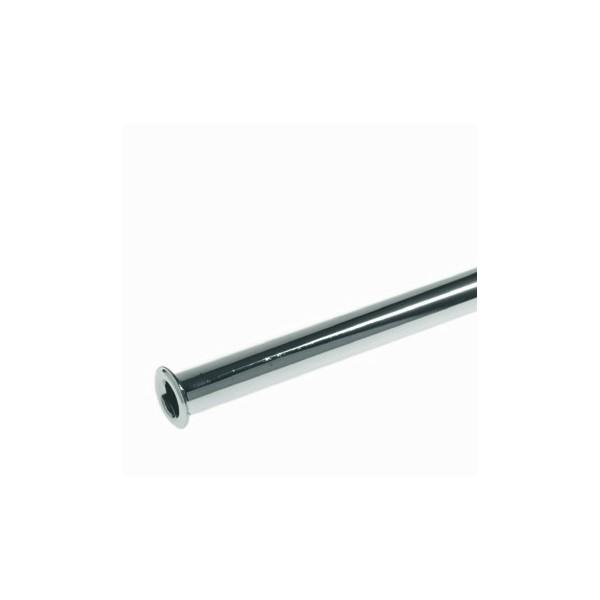 Aansluitpijp 10mm L300mm chroom kraag 3/8(14mm) + 1/2(18mm) Schell