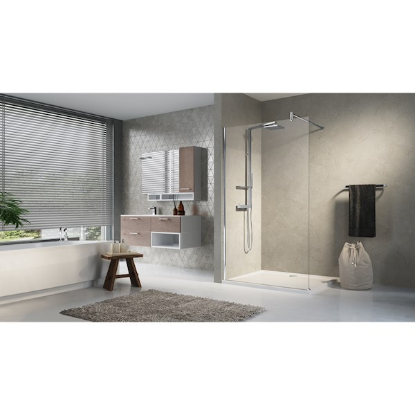 Lunes H inloopdouche 870-885x1950mm matchroom/helder Novellini