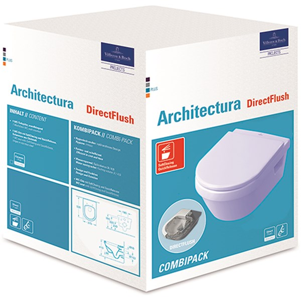 Wandcloset Pack Architectura RO dsp. DF m. zitting SC Villeroy & Boch
