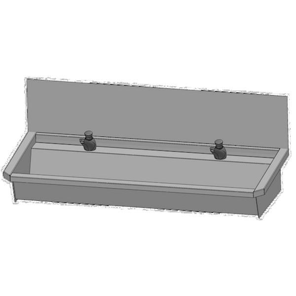 Sanilav 3.0 RVS wasgoot m. kraanbank 120cm 2pl-uitv L3 Intersan