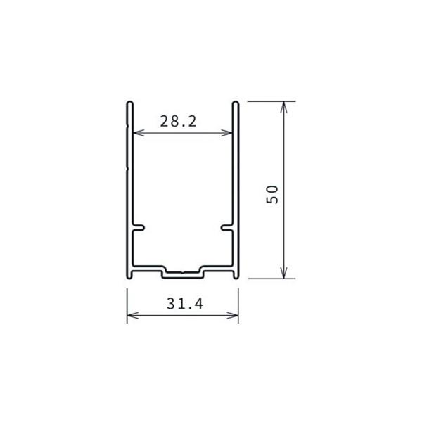 Young 2.0 verbredingsprofiel H2000mm matchroom v.stand.deur Novellini