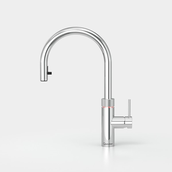 Kraan FLEX m. COMBI+ chroom  warm/kokend water Quooker