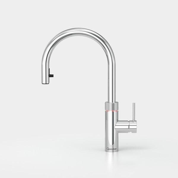 Kraan FLEX m. COMBI+ chroom warm/kokend water Quooker