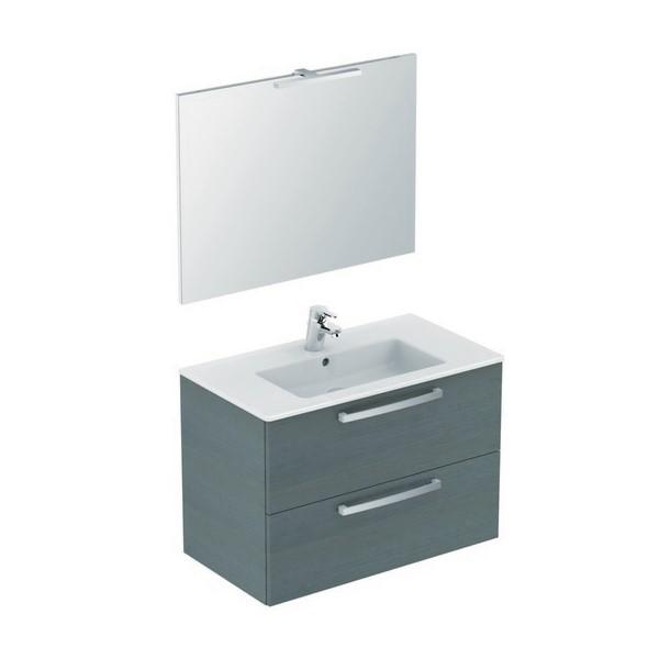 100 meubel B815xH565xD450mm gr. eik. m.wast./spiegel/LED/kr. Trendline