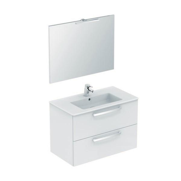 100 meubel B815xH565xD450mm wit hggl m.wast./spiegel/LED/kr. Trendline