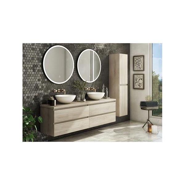 Dahlia dubbele keramische wastafel 1200mm 2xkraangat WISA