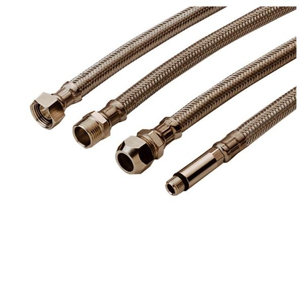 Flex. aansl.slang + RVS omvl. 3/8x1/2 bi 300mm K Tucai