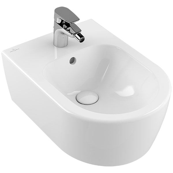 Avento bidet 370x530mm wit alpin m.overloop Villeroy & Boch
