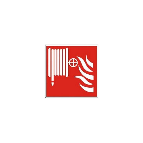 Pictogramsticker haspel 200x200mm rood m.vlam Ajax