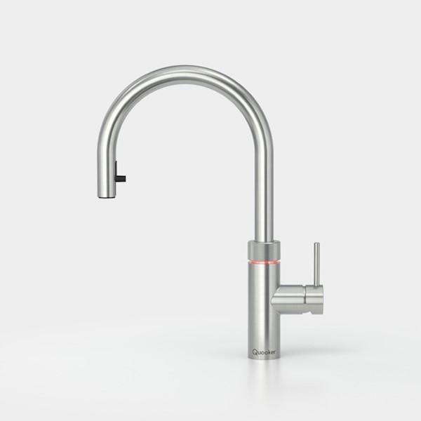 Kraan FLEX m. COMBI RVS warm/kokend water Quooker