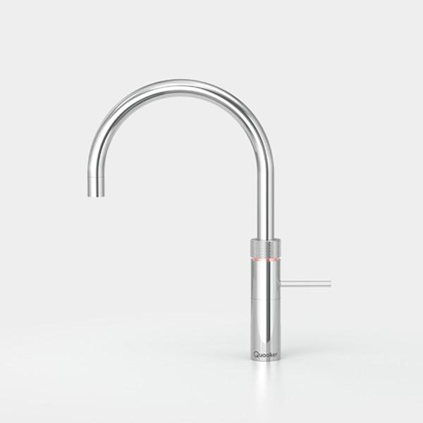 Kraan FUSION ROUND m. COMBI+ chroom warm/kokend water Quooker