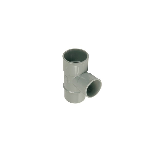 Wadal PVC lijm T-stuk 88gr. 32mm grijs 2x mof/spie Wavin