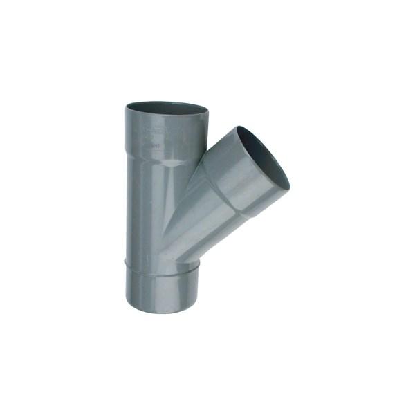 Wadal PVC lijm T-stuk 45gr. 40mm grijs 2x mof/spie Wavin