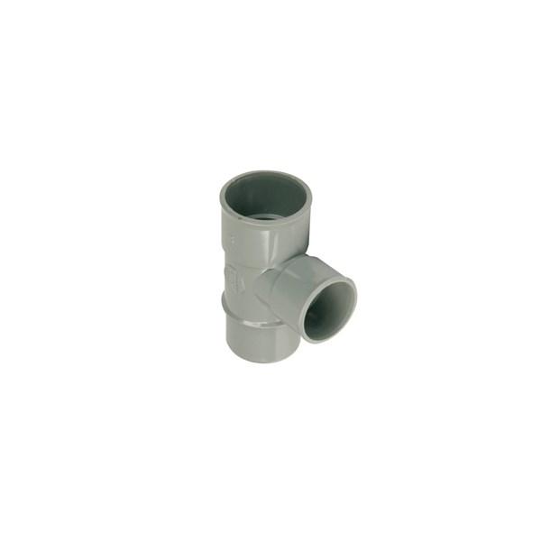Wadal PVC lijm T-stuk 88gr. 40mm grijs 2x mof/spie Wavin